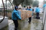 Manisa Büyükşehir'den evleri yanan ailelere destek