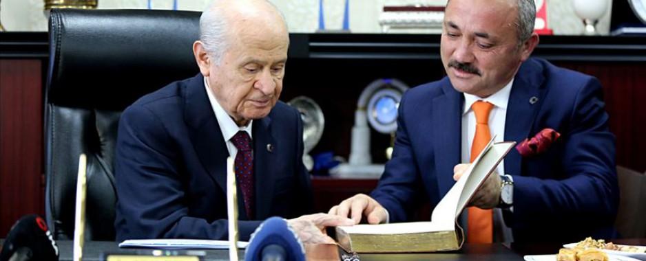 MHP Genel Başkanı Bahçeli, Çankırı Belediyesini ziyaret etti.