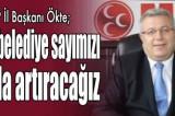 MHP İl Başkanı Ökte; 2024'te belediye sayımızı daha da artıracağız
