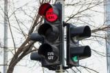 """Kütahya'da Trafik Lambaları """"EVDE KAL"""" Çağrısı Yapıyor"""