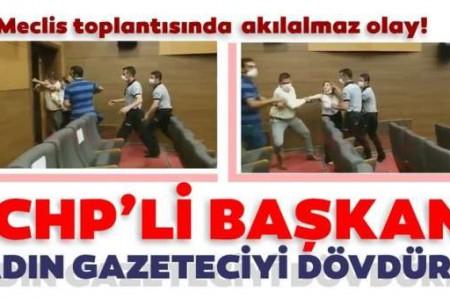 CHP Kırşehir Belediye Başkanı kadın gazeteciyi dövdürttü!