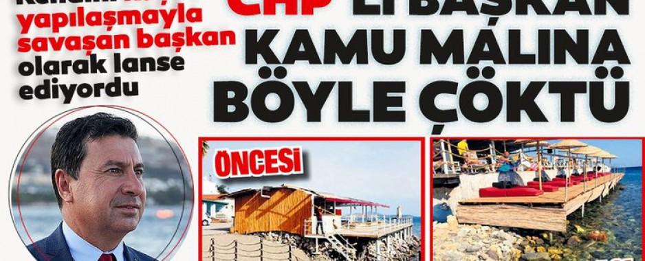 CHP'li Bodrum Belediye Başkanı Ahmet Aras kamu malına çöktü