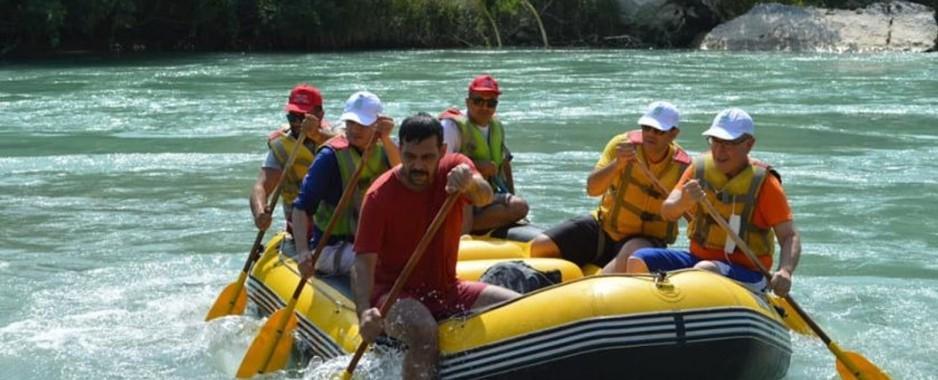 Silifke'de rafting heyecanı