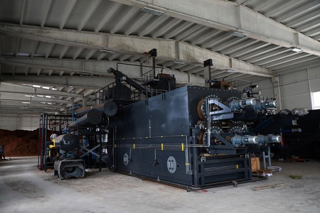 Çay çöpünden mangal kömürü üretecek fabrikada son aşamaya gelindi