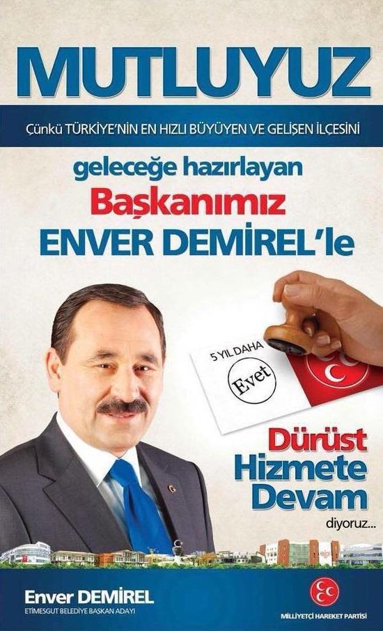 Enver Demirel MHP Etimesgut Belediye Başkan Adayı