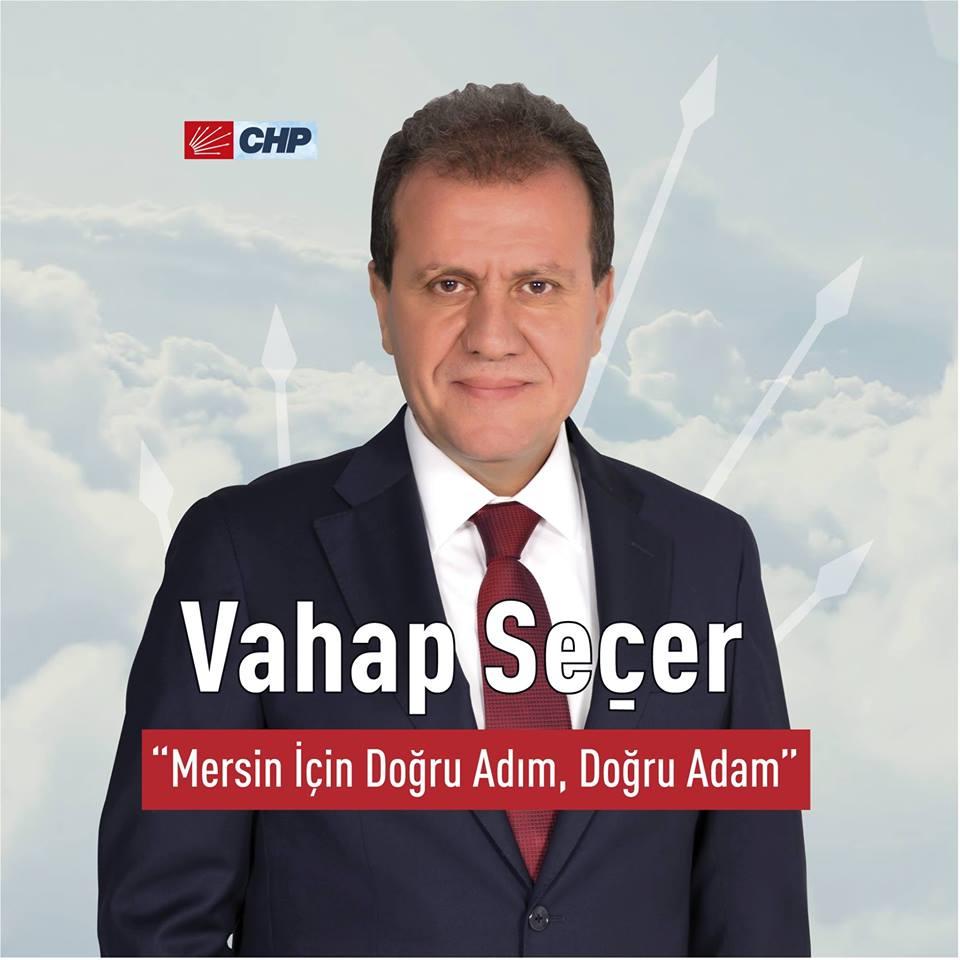 Vahap Seçer CHP Mersin Büyükşehir Belediyesi Başkanı A.Adayı